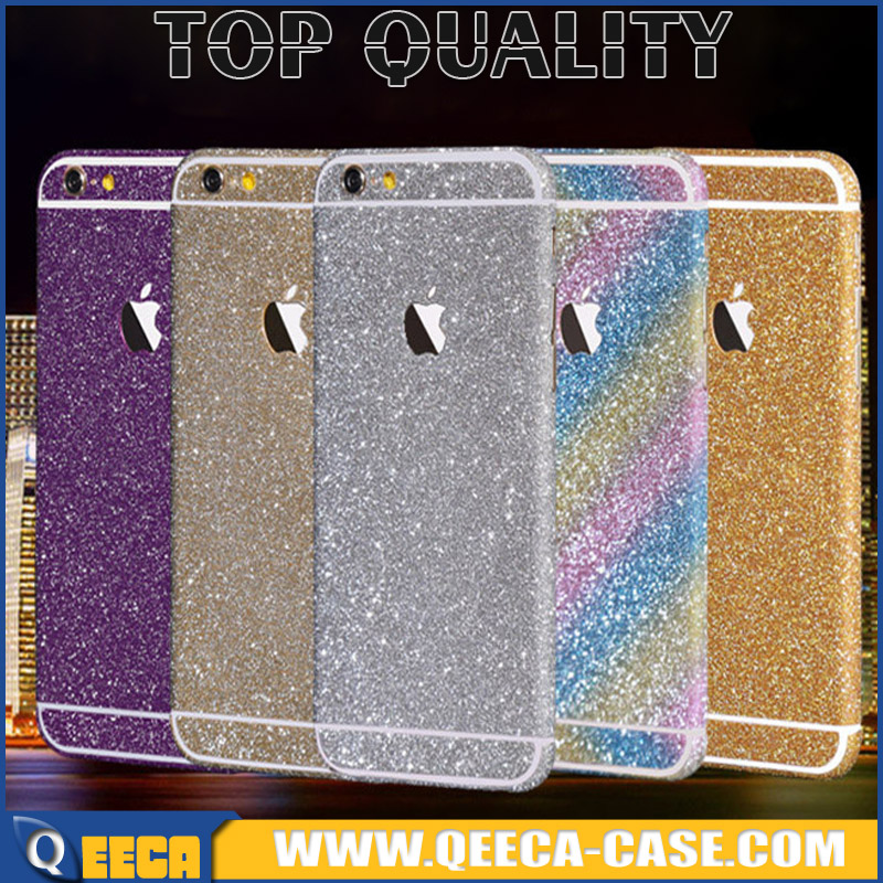 Glitter wrap skin decorations sticker for iPhone 6 6s 5s 5C 4