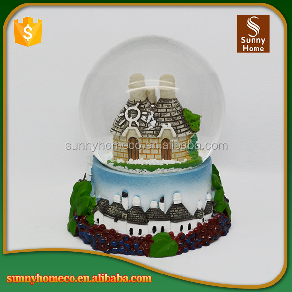 Unique resin crystal ball for home decoration