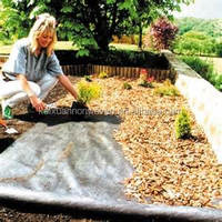 black color agriculture mulching non woven fabric,landscape ground cover,garden weed mat