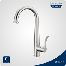 Single lever spring stainless steel sink kitchen faucet