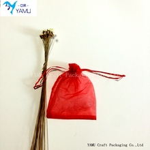 RED organza drawstring bag/organza Wedding candy bag/Christmas Gift small organza bag
