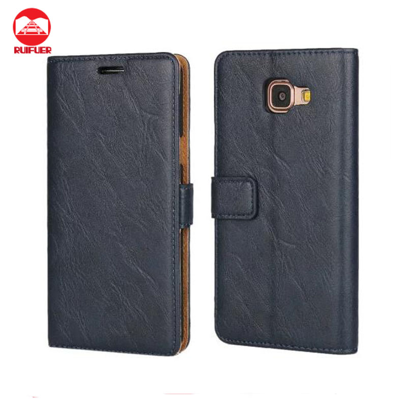 Manufacturer Wholesale Luxury Retro Bark Pattern Book Style Wallet PU Leather Flip Cover Case for Samsung Galaxy A5 2016