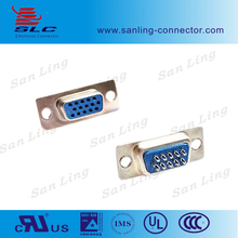 Female Solder Type 3 rows d-sub 15 pin connector