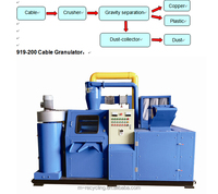 electrical cable wires recycling machines for copper and plastic/ cable granulator machine
