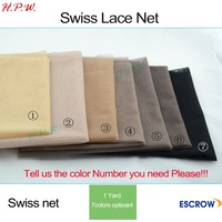 High quality Pattern Swiss Net for Making Lace Wig Foundation Accessories Weaving Tools 7 colors available
