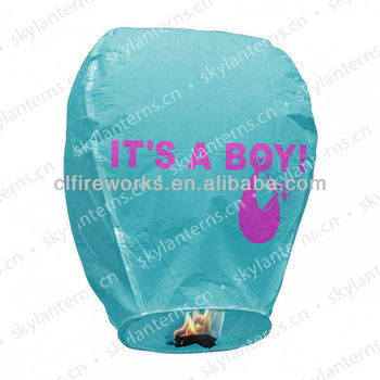 It's a boy biodegradable sky lantern