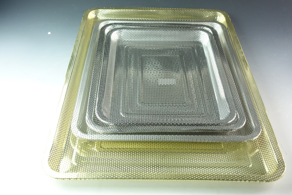 hot salling metal stainless steel serving tray/plate