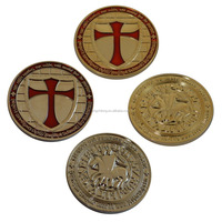 Custom Coin Knight Templar Cross Coin Wholesale Masonic Coin