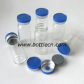 10ml glass bottle with logo cap, flip off seal