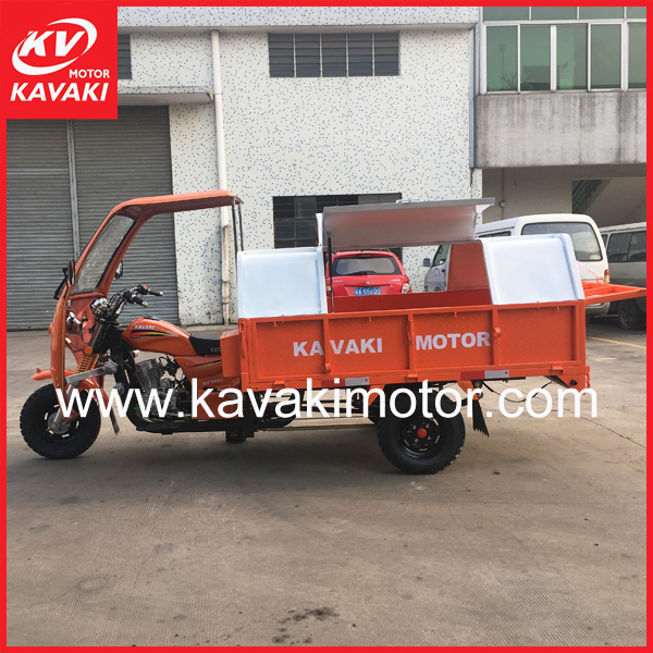Guangzhou City Kavaki Brand New Garbage Motor Tricycle 150CC For Sales