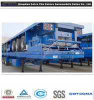 Hot sale 3 axles CIMC/LUFENG cargo trailer for Africa