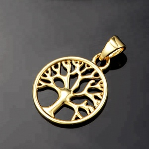 Custom made logo jewelry charms wholesale tree of life pendants