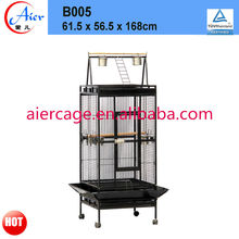 largr bird cage metal parrot cage with playtop