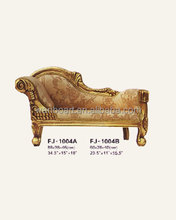 1004 antique finished hand carved wood doll/child furniture - sofa