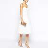 Off-shoulder white new design latest A-line cocktail dress