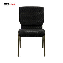 Fabric Padded Stacking Church Chair Seat Cover Fabric For Sale