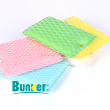 factory direct sell jacquard PET cloth kitchen cleaning Sponge Scrubber scourer