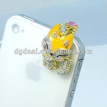 Mobile phone charm plug dust plug earphone jack cap plug