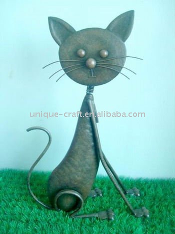 Cat metal animals figurine