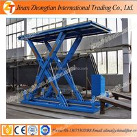 Stationary hydraulic electric scissor cargo lift vertical small home elevator all kinds models