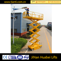 Agent wanted hydraulic electric scissor lift man aerial work platform with new batteries