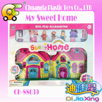 Newest Pretend Toy Sweet Villa with Beauty House Furniture
