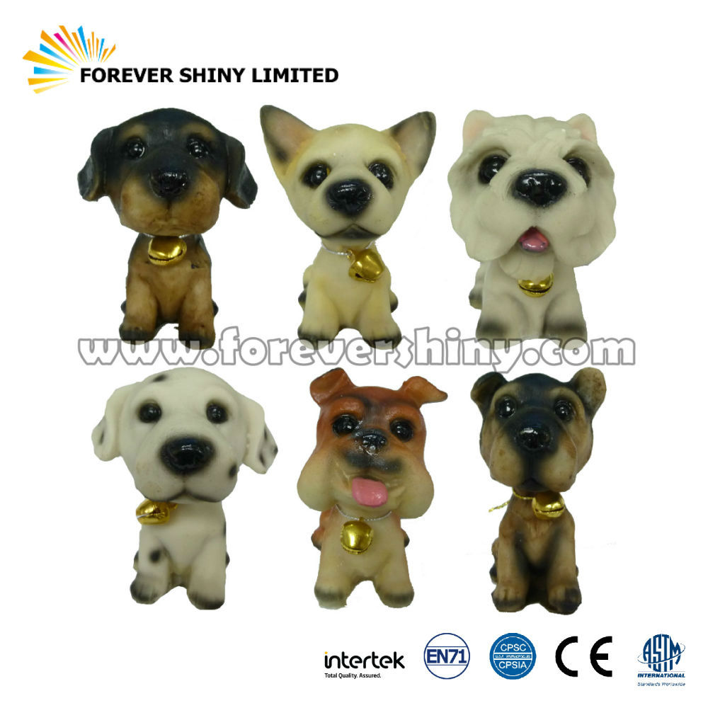 Bulk Cheap OEM ODM Decoration Collectible Animal Small Capsule Toy Figure Resin Puppy Dog Figurine for Vending Machine