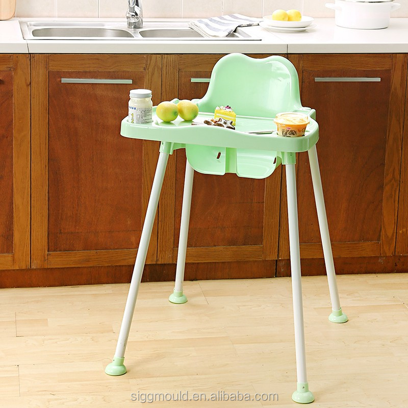 2016 New Model 2 in 1 <strong>k</strong> and d baby high chair, Plastic and Steel Tube Muti-function Baby High Chair