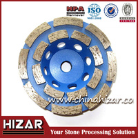 Brazed welded turbo diamond cup wheel for granite