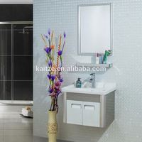 European Style Modern Wall Mounted Bathroom Vanity with Mirror Cabinet