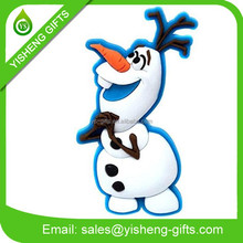 soft PVC snowman snow globe fridge kid refrigerator magnet