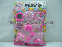 fashion girl plastic beauty play set toy