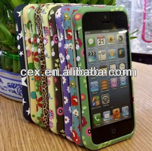 For Apple iPhone 5 5s New Arrival Flower Bumper Hard PC Plastic Case