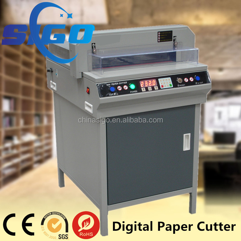 Small electric paper cutter with Low price 450VS+