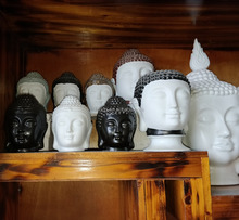 Buddha head aroma burners/Porcelain candle holder/ Ceramic fragrance essential oil diffuser