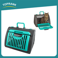Hot sale cat carrier indoor PP material portable folding pet cat cage