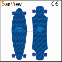 high quality plastic loaded longboard plastic skateboard new longboard
