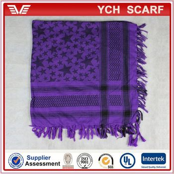 Star pattern cotton woven arab scarf shemagh scarf desert scarf