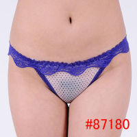 Romantic sexy mesh lace transparent G-string for young women, hot stock visible fashion girl thong