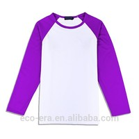 200g 65% Cotton 35% Polyester Long Sleeve , Wholesale Raglan Sleeve T-shirt , Custom Tshirt Printing , LOW MOQ Mix Order