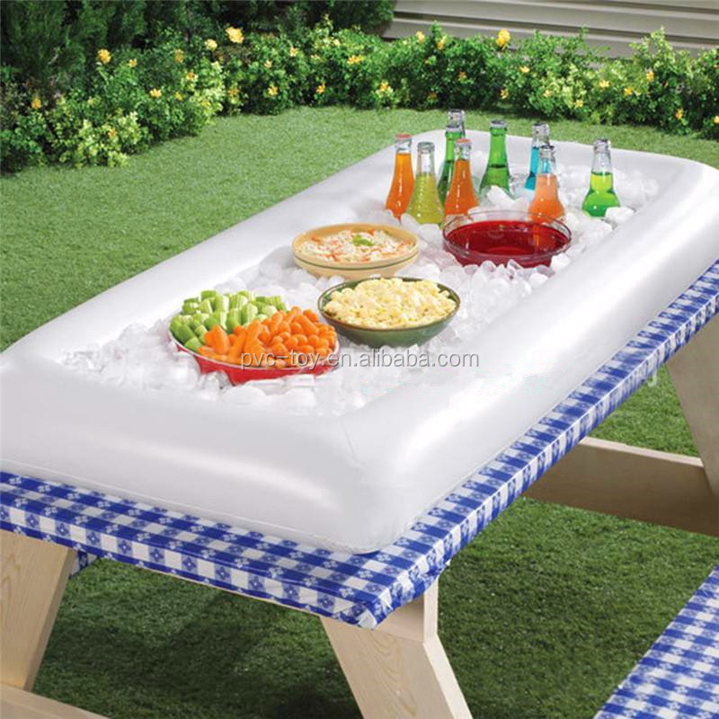 summer party inflatable salad bar buffet cooler pool food air floating cooler