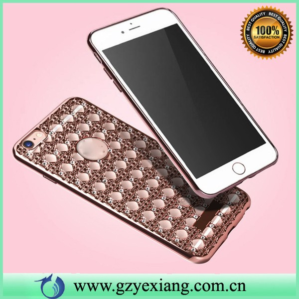 fashional shiny agate diamond case for iphone 5 mobile phone cover soft case