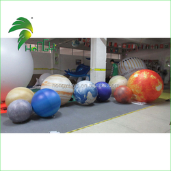 High Quality Commercial Giant Inflatable Mars With Helium LED Planet Balloon For Advertising Decoration
