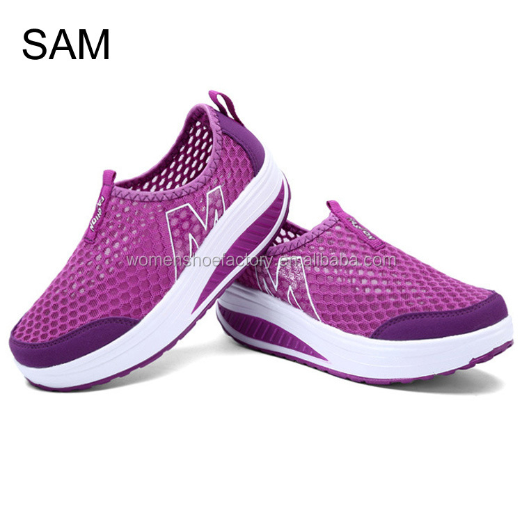 factory wholesale flange bottom hollow our breathable fashion women sneakers