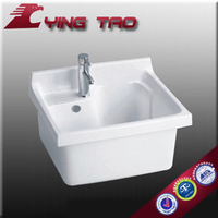 sanitary ware semi pedestal basin high quality pressed designs basin for family Wall Hung modern street carts under sink bain cl