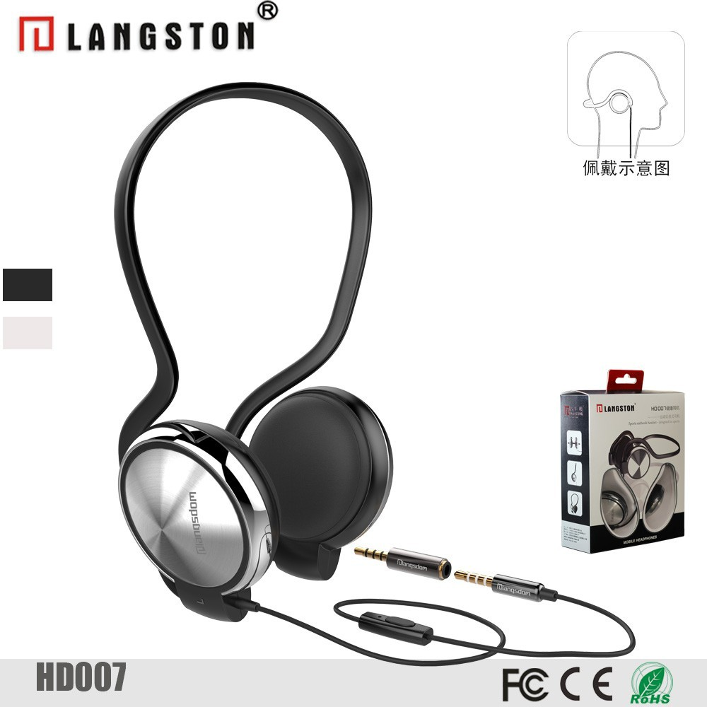 Best sound heavy bass wired stereo headphone from China factory for mobile phone earbuds