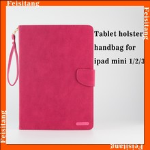 shockproof tablet leather case for ipad mini 1/2/3 smart cover