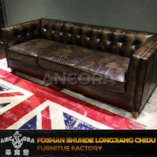 American classic Chesterfield vintage leather sofa A132
