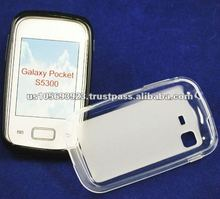 factory price TPU pudding case for Samsung galaxy pocket s5300