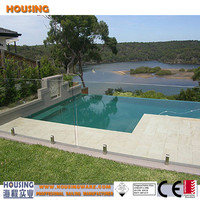 316 stainless steel invisible pool fencing with spigots